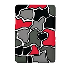 Black, Gray And Red Abstraction Samsung Galaxy Tab 2 (10 1 ) P5100 Hardshell Case  by Valentinaart