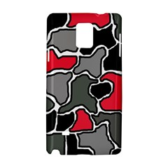 Black, Gray And Red Abstraction Samsung Galaxy Note 4 Hardshell Case by Valentinaart