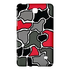 Black, Gray And Red Abstraction Samsung Galaxy Tab 4 (7 ) Hardshell Case  by Valentinaart