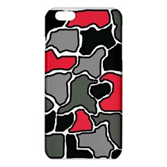 Black, Gray And Red Abstraction Iphone 6 Plus/6s Plus Tpu Case by Valentinaart