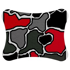 Black, Gray And Red Abstraction Jigsaw Puzzle Photo Stand (bow) by Valentinaart