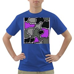 Purple And Gray Abstraction Dark T-shirt