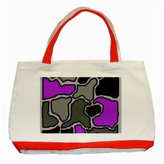 Purple And Gray Abstraction Classic Tote Bag (red) by Valentinaart