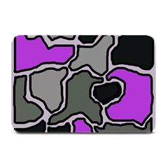 Purple And Gray Abstraction Plate Mats by Valentinaart