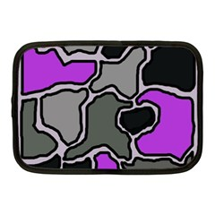 Purple And Gray Abstraction Netbook Case (medium)  by Valentinaart
