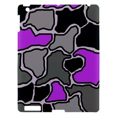 Purple And Gray Abstraction Apple Ipad 3/4 Hardshell Case by Valentinaart
