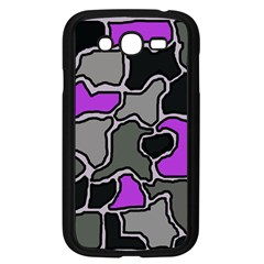 Purple And Gray Abstraction Samsung Galaxy Grand Duos I9082 Case (black) by Valentinaart