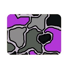 Purple And Gray Abstraction Double Sided Flano Blanket (mini)  by Valentinaart