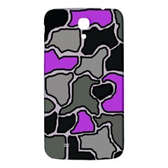 Purple And Gray Abstraction Samsung Galaxy Mega I9200 Hardshell Back Case by Valentinaart