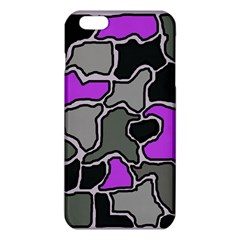 Purple And Gray Abstraction Iphone 6 Plus/6s Plus Tpu Case by Valentinaart
