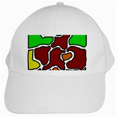 Africa Abstraction White Cap by Valentinaart