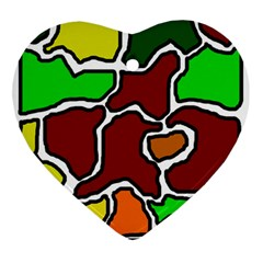 Africa Abstraction Ornament (heart)  by Valentinaart
