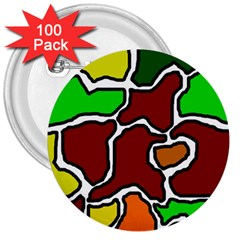 Africa Abstraction 3  Buttons (100 Pack)  by Valentinaart