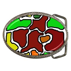 Africa Abstraction Belt Buckles by Valentinaart