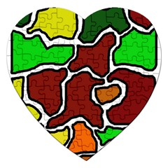 Africa Abstraction Jigsaw Puzzle (heart) by Valentinaart