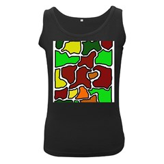 Africa Abstraction Women s Black Tank Top by Valentinaart