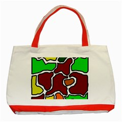 Africa Abstraction Classic Tote Bag (red) by Valentinaart