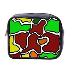 Africa Abstraction Mini Toiletries Bag 2 Side by Valentinaart