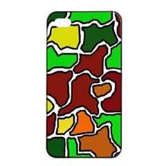 Africa Abstraction Apple Iphone 4/4s Seamless Case (black) by Valentinaart