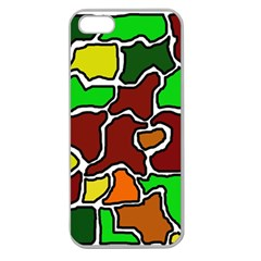 Africa Abstraction Apple Seamless Iphone 5 Case (clear) by Valentinaart