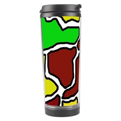 Africa Abstraction Travel Tumbler by Valentinaart