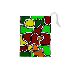 Africa Abstraction Drawstring Pouches (small)  by Valentinaart