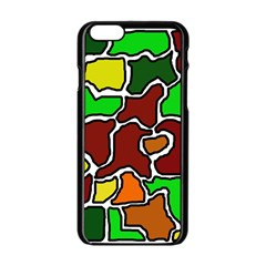 Africa Abstraction Apple Iphone 6/6s Black Enamel Case by Valentinaart