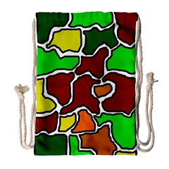 Africa Abstraction Drawstring Bag (large) by Valentinaart