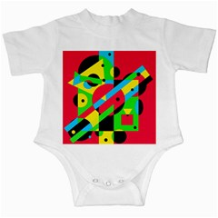 Colorful Geometrical Abstraction Infant Creepers by Valentinaart