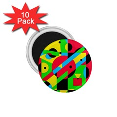 Colorful Geometrical Abstraction 1 75  Magnets (10 Pack)  by Valentinaart