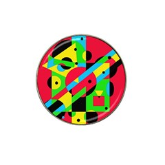 Colorful Geometrical Abstraction Hat Clip Ball Marker by Valentinaart
