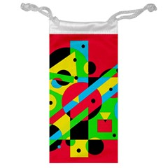 Colorful Geometrical Abstraction Jewelry Bags by Valentinaart