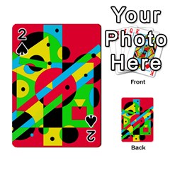 Colorful Geometrical Abstraction Playing Cards 54 Designs  by Valentinaart