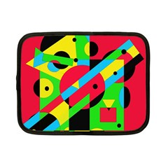 Colorful Geometrical Abstraction Netbook Case (small)  by Valentinaart
