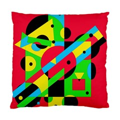 Colorful Geometrical Abstraction Standard Cushion Case (one Side) by Valentinaart
