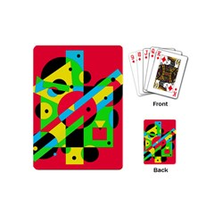 Colorful Geometrical Abstraction Playing Cards (mini)  by Valentinaart