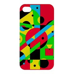 Colorful Geometrical Abstraction Apple Iphone 4/4s Hardshell Case by Valentinaart