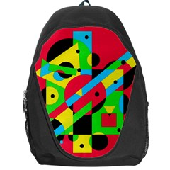 Colorful Geometrical Abstraction Backpack Bag by Valentinaart