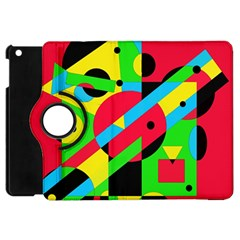 Colorful Geometrical Abstraction Apple Ipad Mini Flip 360 Case by Valentinaart