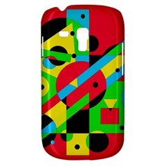 Colorful Geometrical Abstraction Samsung Galaxy S3 Mini I8190 Hardshell Case by Valentinaart