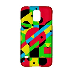 Colorful Geometrical Abstraction Samsung Galaxy S5 Hardshell Case  by Valentinaart