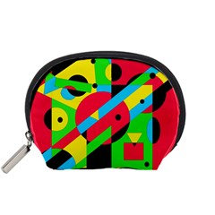 Colorful Geometrical Abstraction Accessory Pouches (small)  by Valentinaart