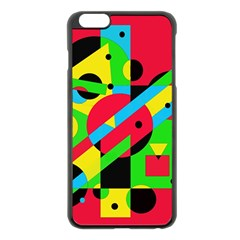 Colorful Geometrical Abstraction Apple Iphone 6 Plus/6s Plus Black Enamel Case by Valentinaart