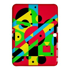 Colorful Geometrical Abstraction Samsung Galaxy Tab 4 (10 1 ) Hardshell Case  by Valentinaart