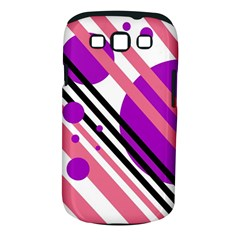 Purple Lines And Circles Samsung Galaxy S Iii Classic Hardshell Case (pc+silicone) by Valentinaart