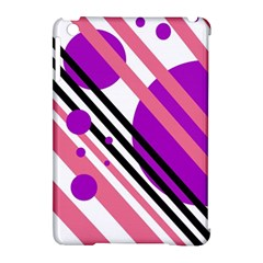 Purple Lines And Circles Apple Ipad Mini Hardshell Case (compatible With Smart Cover) by Valentinaart