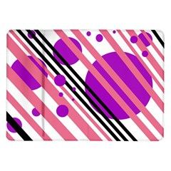 Purple Lines And Circles Samsung Galaxy Tab 10 1  P7500 Flip Case by Valentinaart