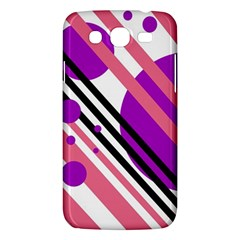 Purple Lines And Circles Samsung Galaxy Mega 5 8 I9152 Hardshell Case  by Valentinaart