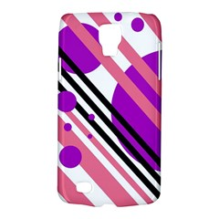 Purple Lines And Circles Galaxy S4 Active by Valentinaart