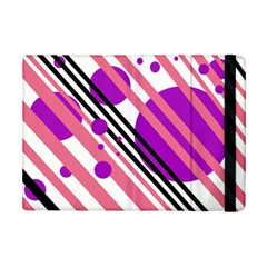 Purple Lines And Circles Ipad Mini 2 Flip Cases by Valentinaart